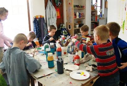 Kinder des Töpferkurs im Januar 2013 bei Silke Laib, Ergo- & Kunsttherapeutin