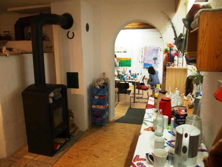 das Atelier Backhaus als Raum für Entfaltung © Silke Laib, Ergo- & Kunsttherapeutin, Reitpädagogin IPTh